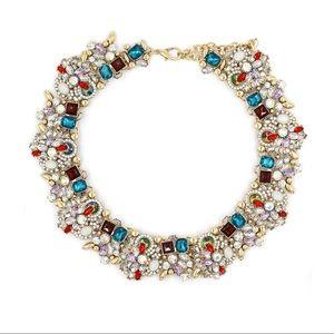Fashion beautiful blue crystal necklace